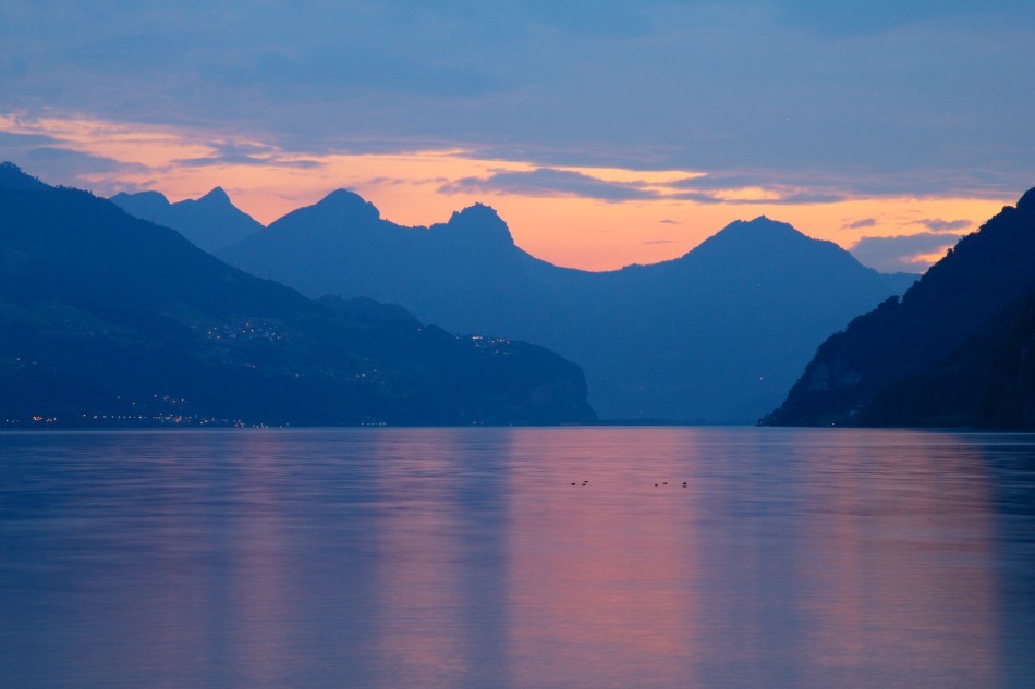 Sunset over Lake Walensee, Switzerland